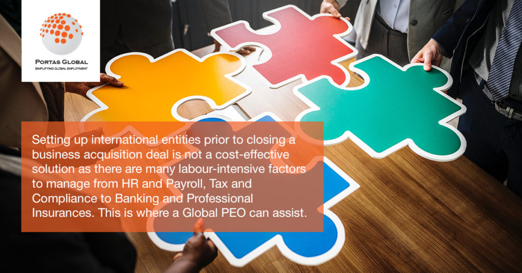 The Global PEO solution during a Transition Service Agreement arrangement